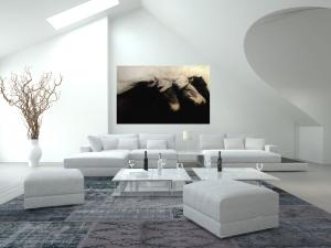 Great When picking art for any room consider the benefits of selecting larger work Sometimes people tend to choose wall art that is smaller than they need for